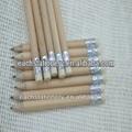 3.5 pulgadas Mini Short Natural de madera HB lápiz con goma de borrar
