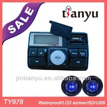 TY978 100% Guarantee 12V mp3& radio LCD motorcycle alarm with FM waterproof