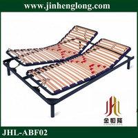 wooden slats adjustable double bed