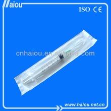 Plastic equipment luer lock syringe 10ml/cc medical instrument