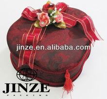 custom printed cosmetic fabric jewelry box packaging wholesale
