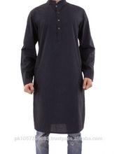 high quality mens black kurta with stripes -fashion stripes kurta in solid colors