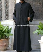 muslim prayer abaya - Muslim Men's thobe thoub thaub thawb - custom 100% cotton fashionable Mens thobe - mens abayas
