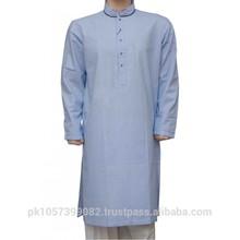 Mens high quality plain shalwar kameez - Unique Button style mens fancy dress shalwar kameez