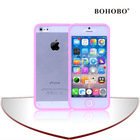 PC bumper and PET touch screen mobile phone cover for 5S