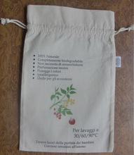 Tea bags / Tea/coffee packaging bags/natural cotton drawstring bags