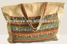 Newest women handbag cotton canvas handbag
