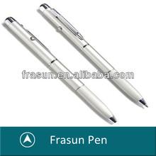 Fashion Office Silver Twist Custom Logo Simple Heavy Metal Body Ballpoint Pen