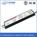 T5 2 x 54 W reator eletrônico para planta de iluminação
