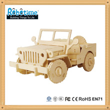 DIY Educational 3D Wooden Vehicle Model Puzzle Toy - Jeep