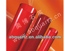 red infrared quartz glass tube or infrared quartz tubes resistant high temperature