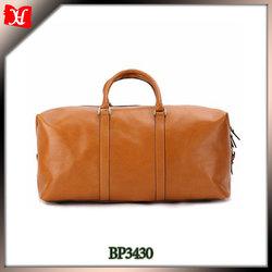Brand names travel bag with vintage hardware genuine leather duffel bag