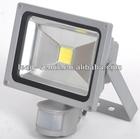 120degree die cast aluminum shell new lens best quality epistar cob 20w pir sensor led flood light