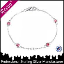 925 silver anchor bracelet