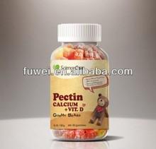 180g Pectin Vegetarian Calcium+Vitamin D vitamin gummies