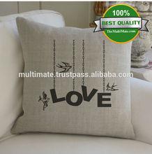love printed cushion covers christmas cushion cover valentine pillows