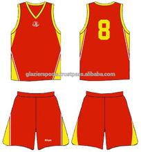 100% Polyester V Neck Basketball Uniform