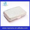 White bling bling metal card holder-- New design clear travel wallet