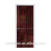 Aluminum Frame Hotel Design Wooden Doors