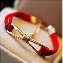 2014 fashion bracelet gold infinity bracelet lucky rope bracelet with butterfly