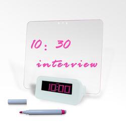 Digital plastic desk clock kits