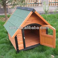Wooden handmade dog kennel with door DK002M