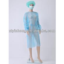 Hospital descartáveis roupa e não- tecido de hospital vestido da isolação descartáveis roupa de trabalho avental cirúrgico o paciente propective do vestido