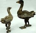 canards en bois sculpté