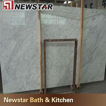 Standard italian white bianco carrara marble slab size