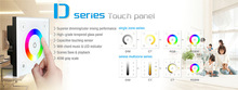 wall mounted led touch panel controller dimmer