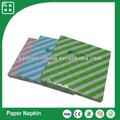 franja de color sólido servilleta de papel para el restaurante