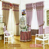 European royal style organza jacquard blackout curtain fabrics for window