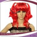 sintético vermelho partido trajes cosplay wig