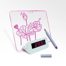 flower shaped desk clock kits wholesale