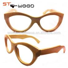 Fashion promotional big sales bamboo glasses