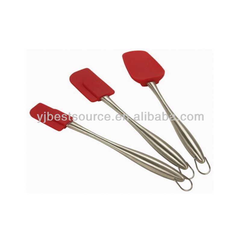 Metal Handle Spatula Silicone Spatula With Metal