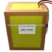 48v battery pack/48v lithium ion battery/48v 15ah lifepo4 battery pack for motocycle