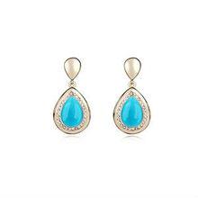 03-8490 candy color/sweet opal/cat's eye diamond earrings cheap china earrings