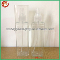 250ml two shoulder transparent PET plastic square bottle with big full cap PET bottle with BIG COVER TBBY-13
