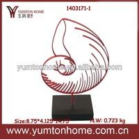 Metal figurine artificial seashells wholesale