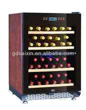 Colorful brown wooden 52 bottles compressor wine cooler