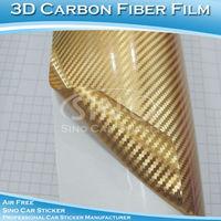 Chrome 3D Carbon Fiber Foil Wheel Center Caps