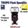 Triopo flaş ışığı evrensel montaj Flaş tr-950 nikon sb910 SB900 SB800 vs YongNuo yn-560exii