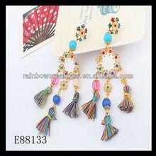 2014 handmade national personality wind restoring ancient ways tassel earrings