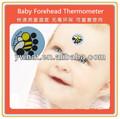 cute lcd termocrômico tira crianças testa termômetro mini lcd termômetro de febre strip para baby