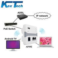 9 years OEM 48v poe 150M 1WAN+1LAN Wireless 802.11n Wall AP Router