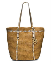 Large Paper Crochet Straw Tote Bag for Women