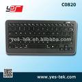 Delgado inalámbrico bluetooh chocolate multimedia del teclado para ipad, el iphone, android tablet( negro)
