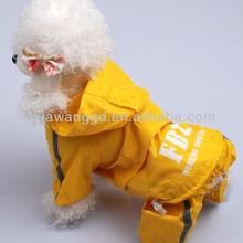 Fashion 100% waterproof dog yellow raincoat