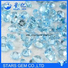wholesale synthetic gemstone aquamarine cz stone